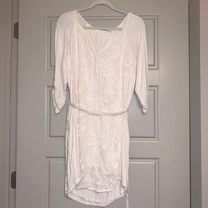 White embroidered Anthropologie dress